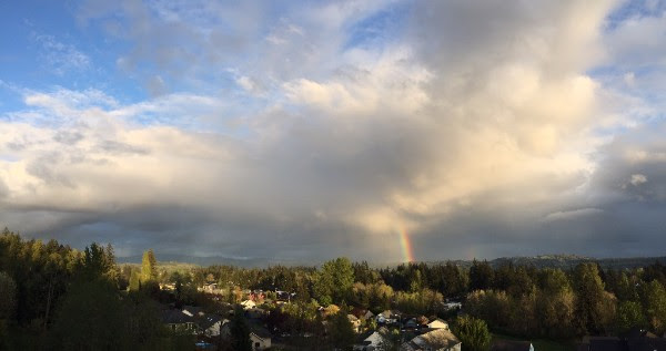 Rainbow over Washougal, Washington.