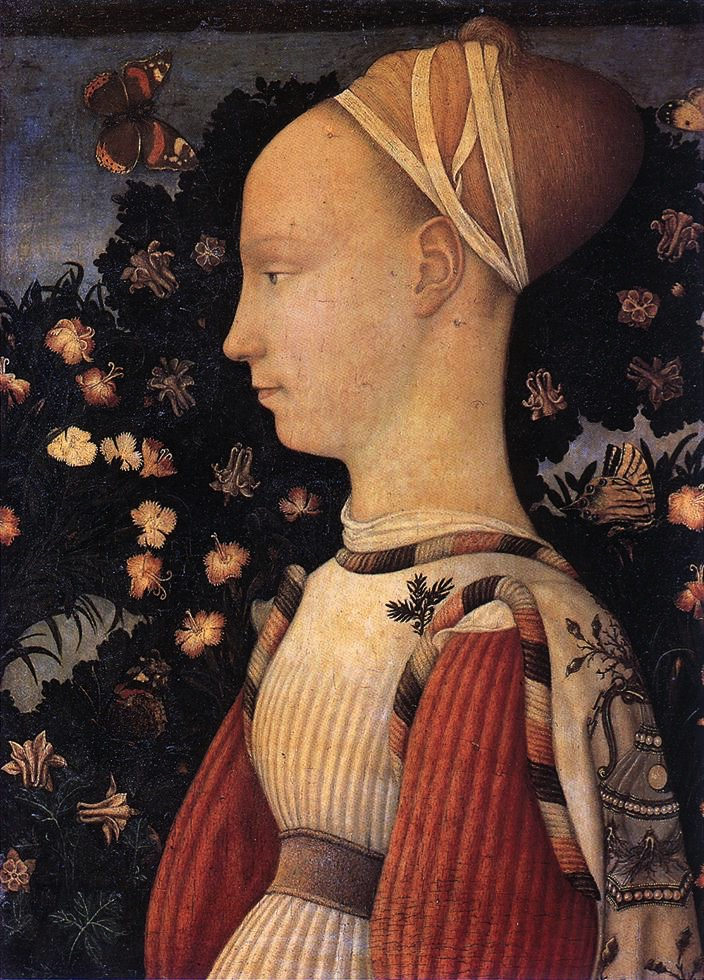 "Pisanello 1395-1455, ""Portrait of a Princess"""