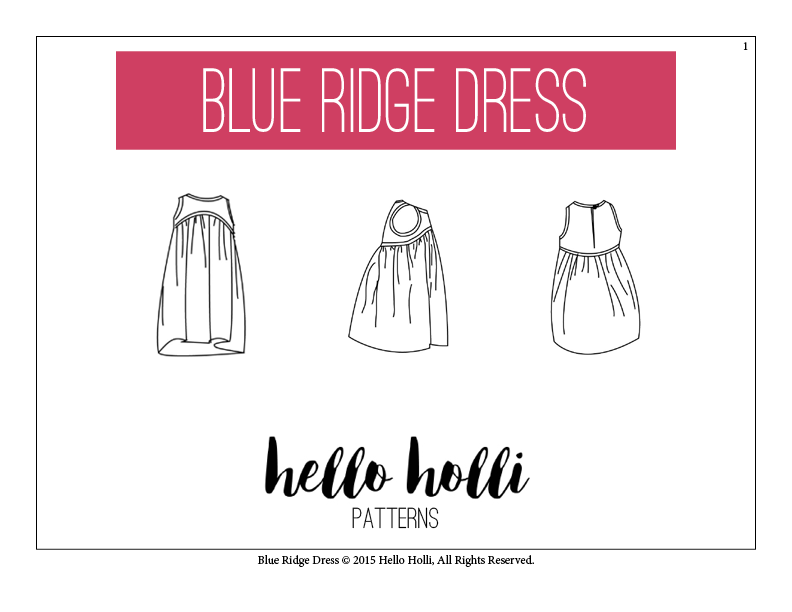 Blue Ridge Dress instructions