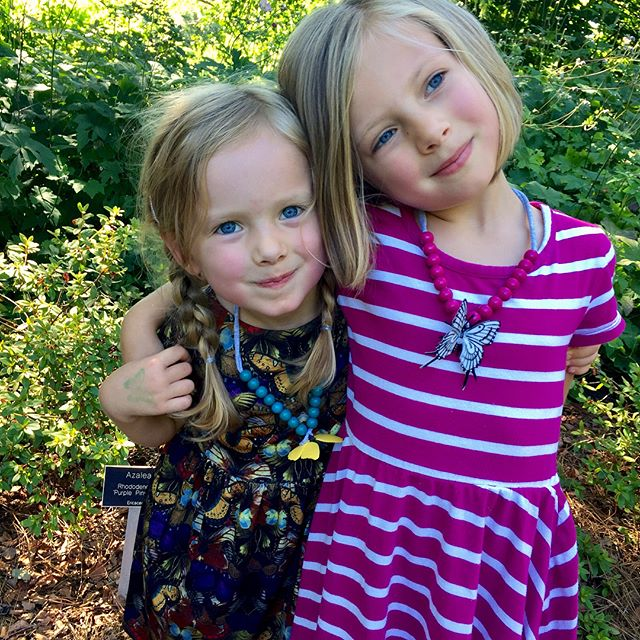 We kinda love butterflies... We went to our favorite Richmond treasure @lewisginter today decked out in butterfly necklaces from @madrebeads and a handmade butterfly dress (starlight city pattern by @lilluxecollection) to see the butterflies LIVE! Exhibit and it did not disappoint! I'm so grateful to have this little crew to adventure with, even if they do drive me crazy the entire way there 🙃 #butterflieslive #madrebeadsbrandenthusiast #butterflylover #makermama