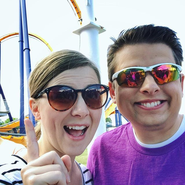 We spent the day celebrating 9 years of marriage by riding roller coasters together for the first time! It was one of the most fun anniversaries we've had yet! It's been at least 12 years since I've been to an amusement park, and I'm happy to report that roller coasters are just as fun at 30 as they were at 18. Cheers to 9 years!