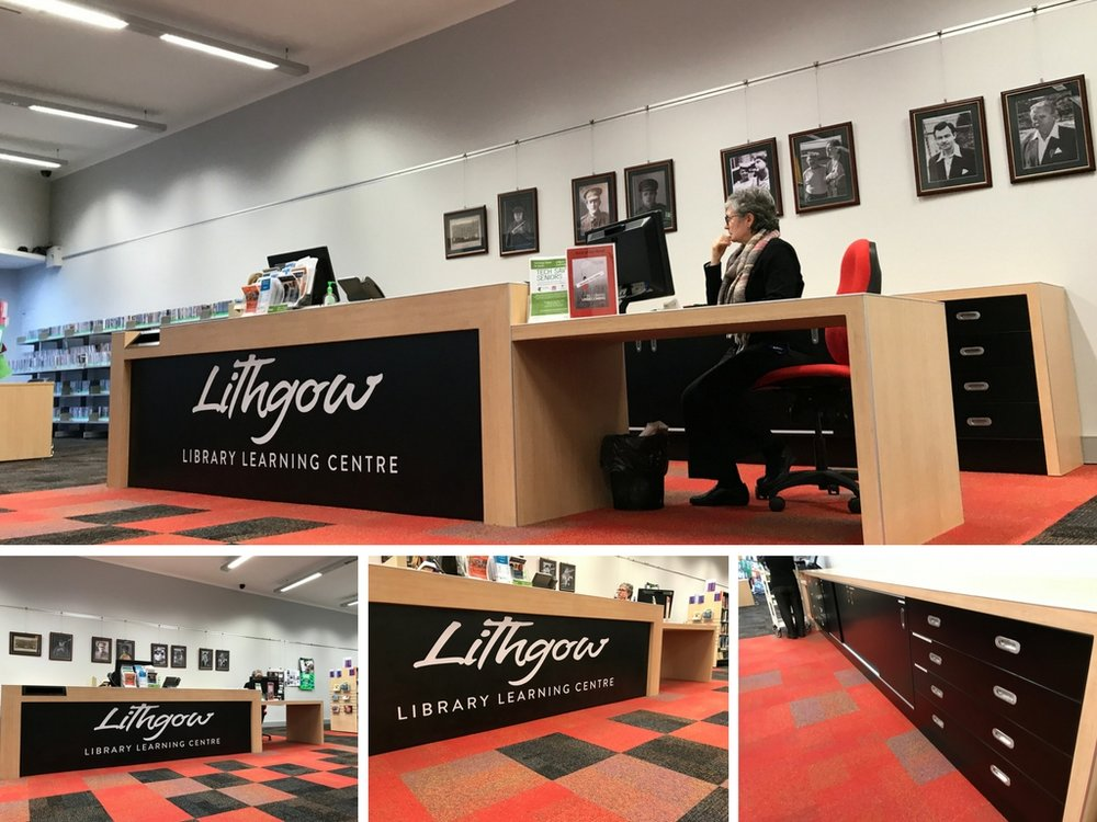 After - Lithgow Library circulation desk