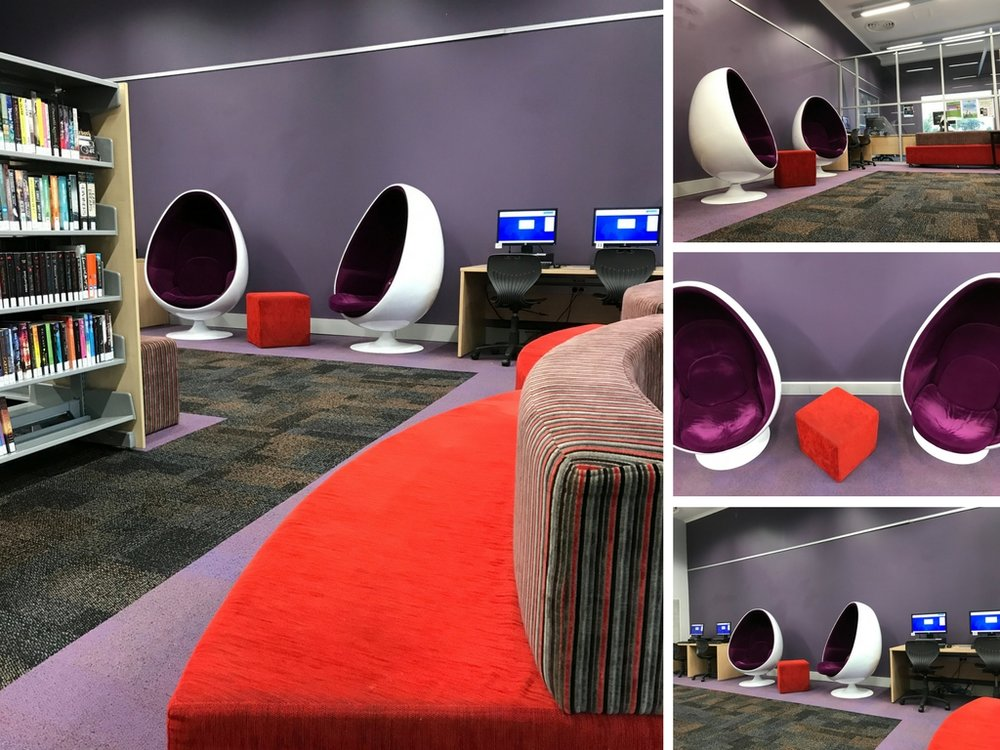 After - Young Adult area comes to life with new and improved furniture and colour!