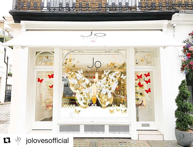 A spectacular window display at @jolovesofficial.
