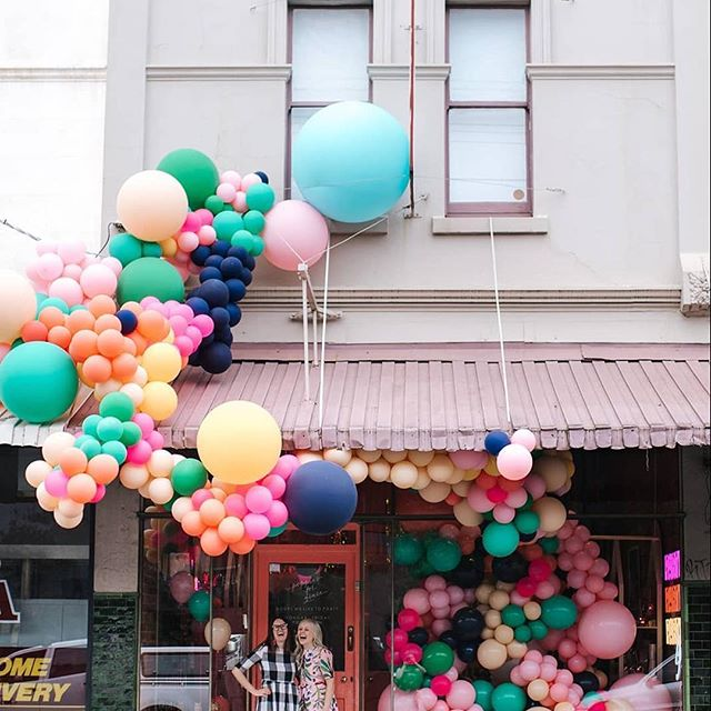 Just spotted the joyous shopfront of @poppiesforgrace in Melbourne. Love, love, love! 🌈🌟💫💋 #retail #design #retaildesign #visual #merchandising #visualmerchandising #vmlife #props #vm #windowdisplays #windows #retailstyling #styling #creative #visualmerchandiser #stylingtips #display #lovemyjob #retailrevamp #balloons #balloon #decoration #party