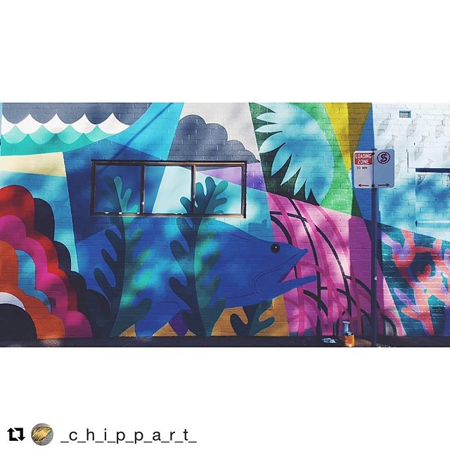 Obsessed with this amazing mural in Collingwood, Victoria from the talented artist @_c_h_i_p_p_a_r_t_ #streetart #mural #graffiti #melbourne #art #creative