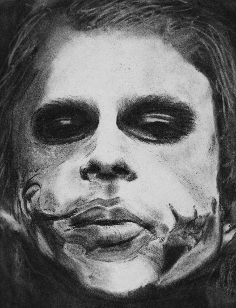 Joker, charcoal