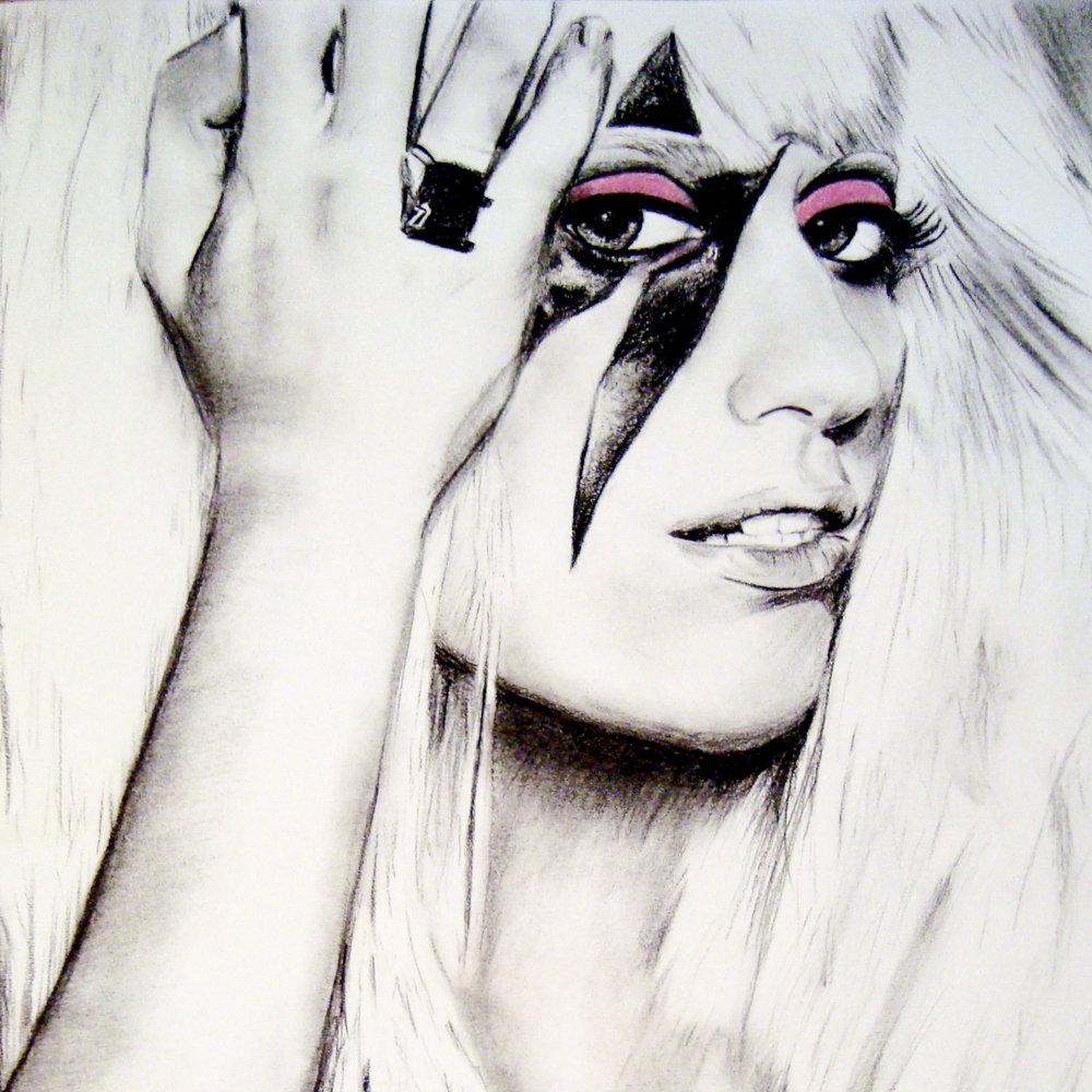 Lady Gaga , charcoal