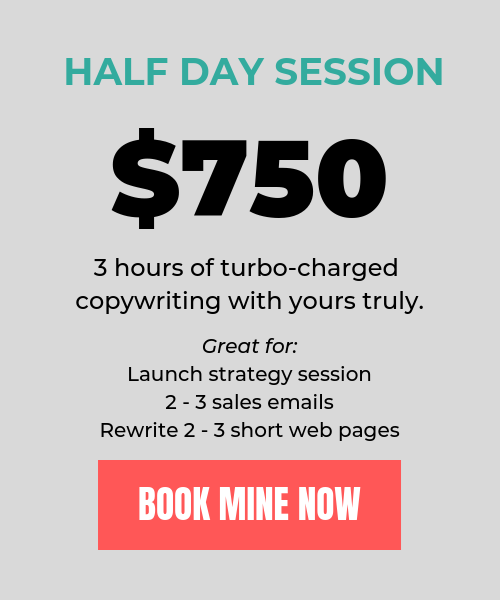 Margo Carroll Email Copywriter Half Day Session