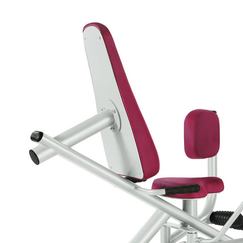 SEATING AND BACK SUPPORT The Panatta seat adjustment system with gas pistons, allows for easy user selection of the ideal position