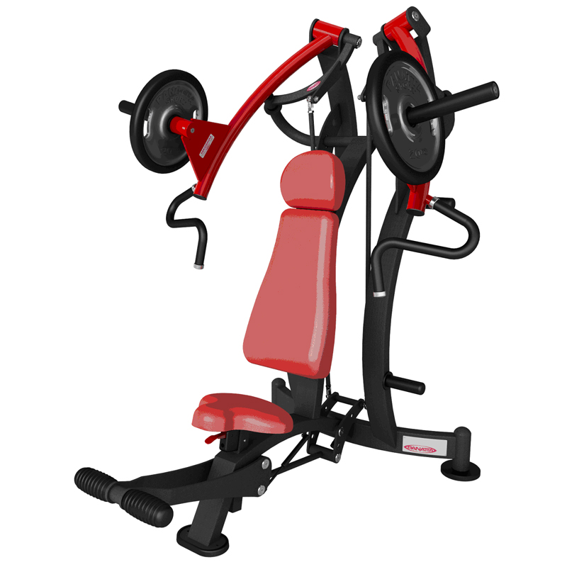 Incline chest press - free weights - commercial gym equipment