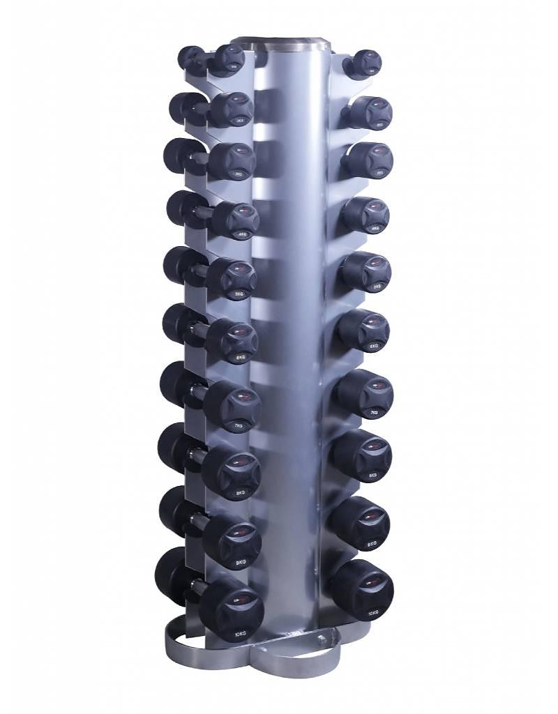 lifemaxx-dumbbell tower with fixed dumbbell - free weights