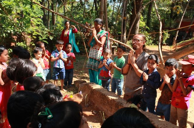 Yoga and permaculture working hand in hand to empower children for a sustainable living.