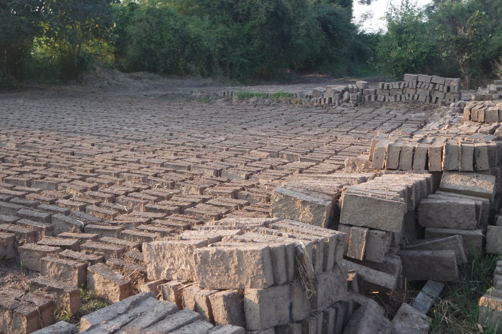 The waiting bricks keep us motivated to go through the hard times of the foundation work.
