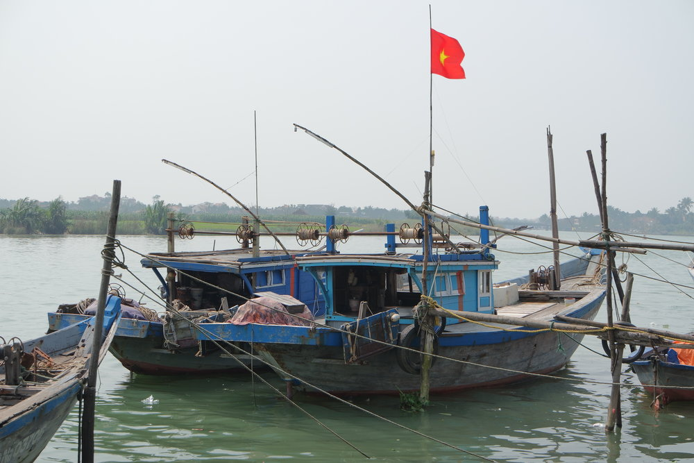 Fishing boat in Hoi An river.