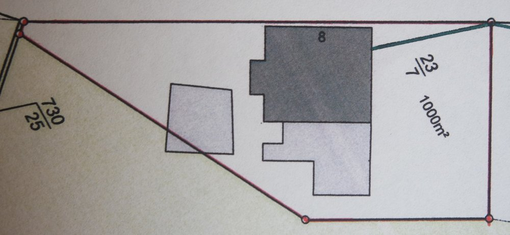 Plan of site for our first permaculture design project in temperate climate in Hannover, Northern Germany.
