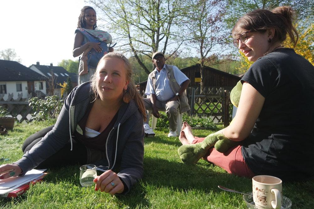 Teilnehmer des Permakulturkurses bei Hannover
