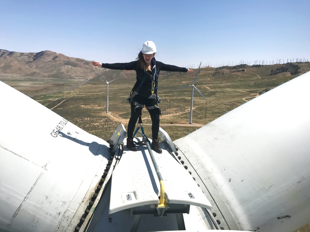 Conducting on-site usability research at GE Tehachapi Windfarm in Tehachapi, CA.