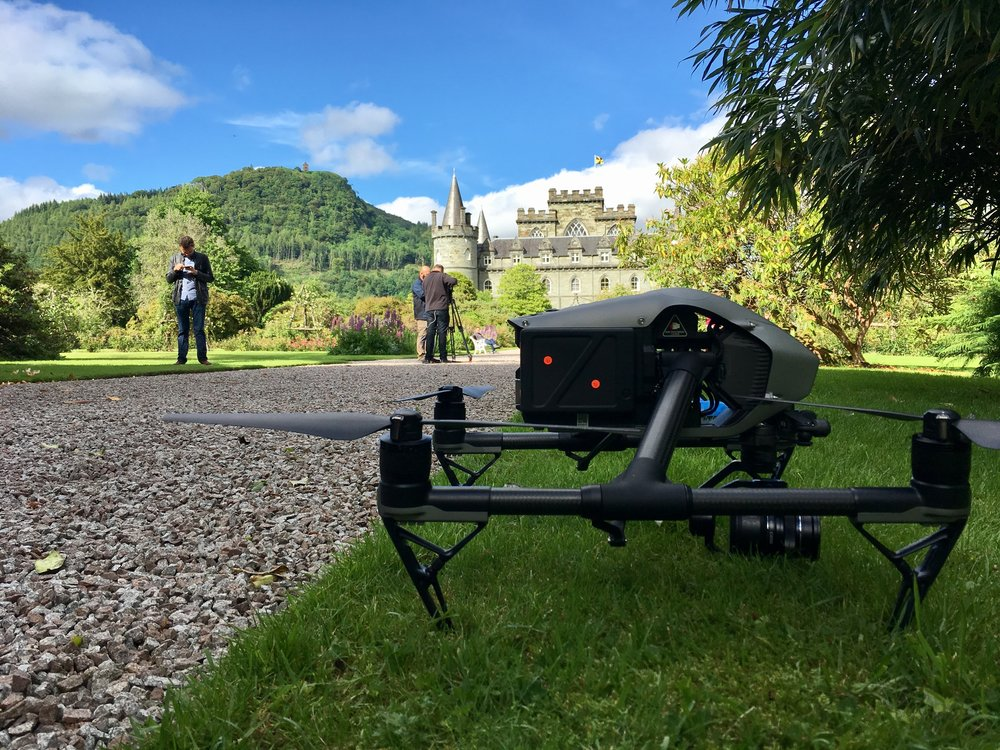 At Inverary Castle shooting VFX plates for a Brazilian drama series.