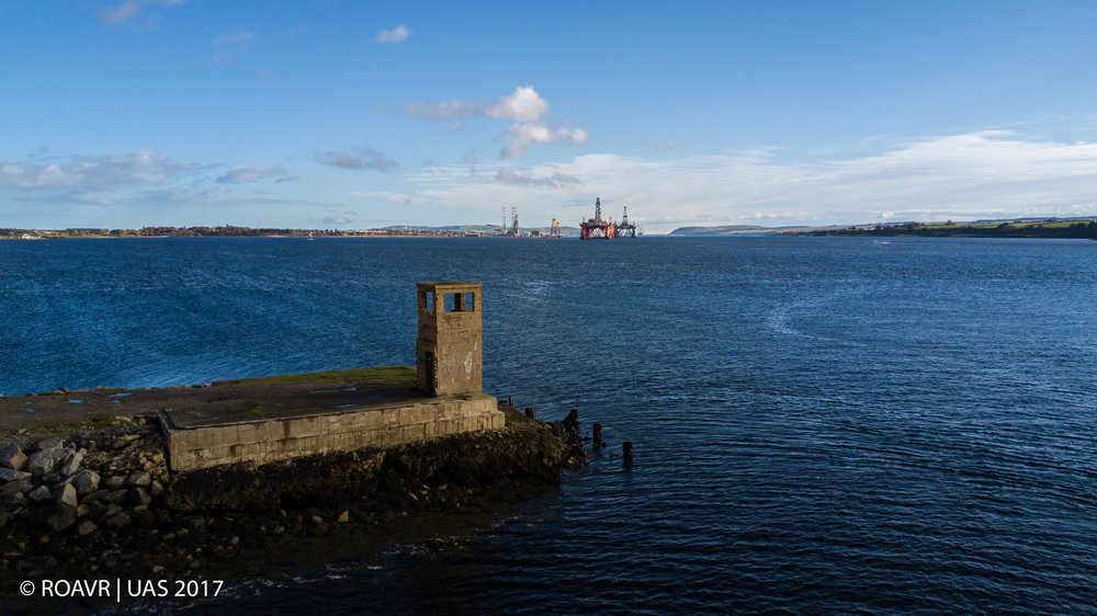 Yankee Pier looking toward Nigg Energy Port.
