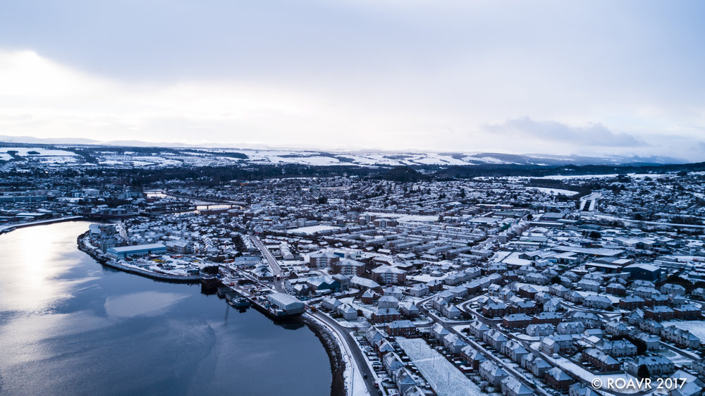 River Ness and the Merkinch area, January 2018