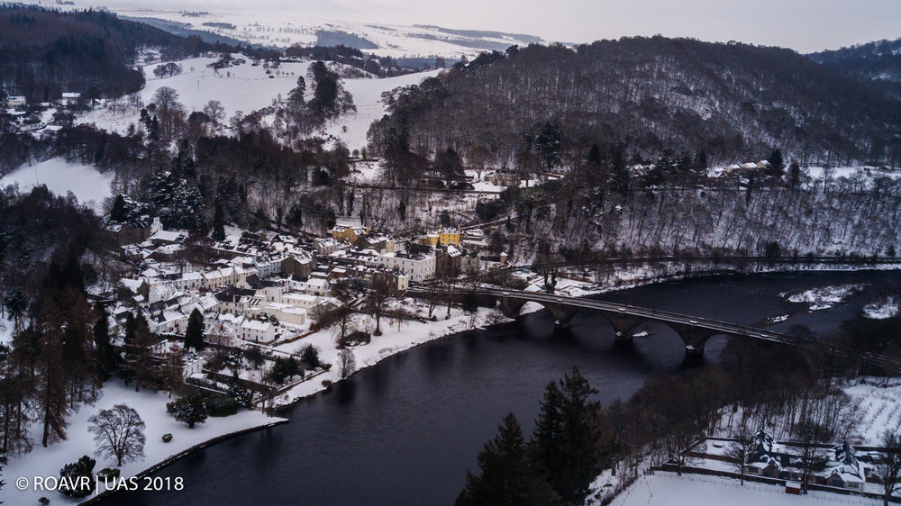 Dunkeld across the River Tay - March 2018