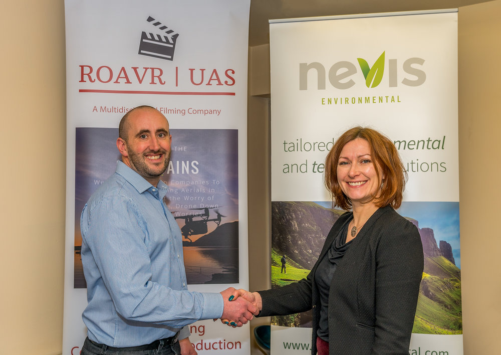 Matt Harmsworth (Director of ROAVR) and Dr. Kathryn Fraser (Director of Nevis Environmental)