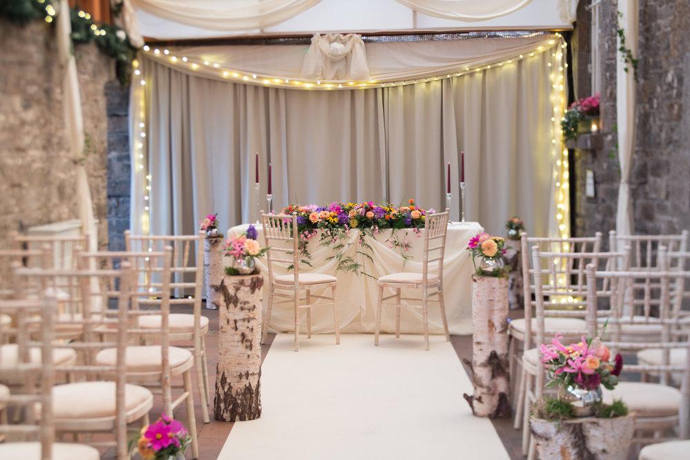 Wedding Ceremony Setting at Boyne Hill