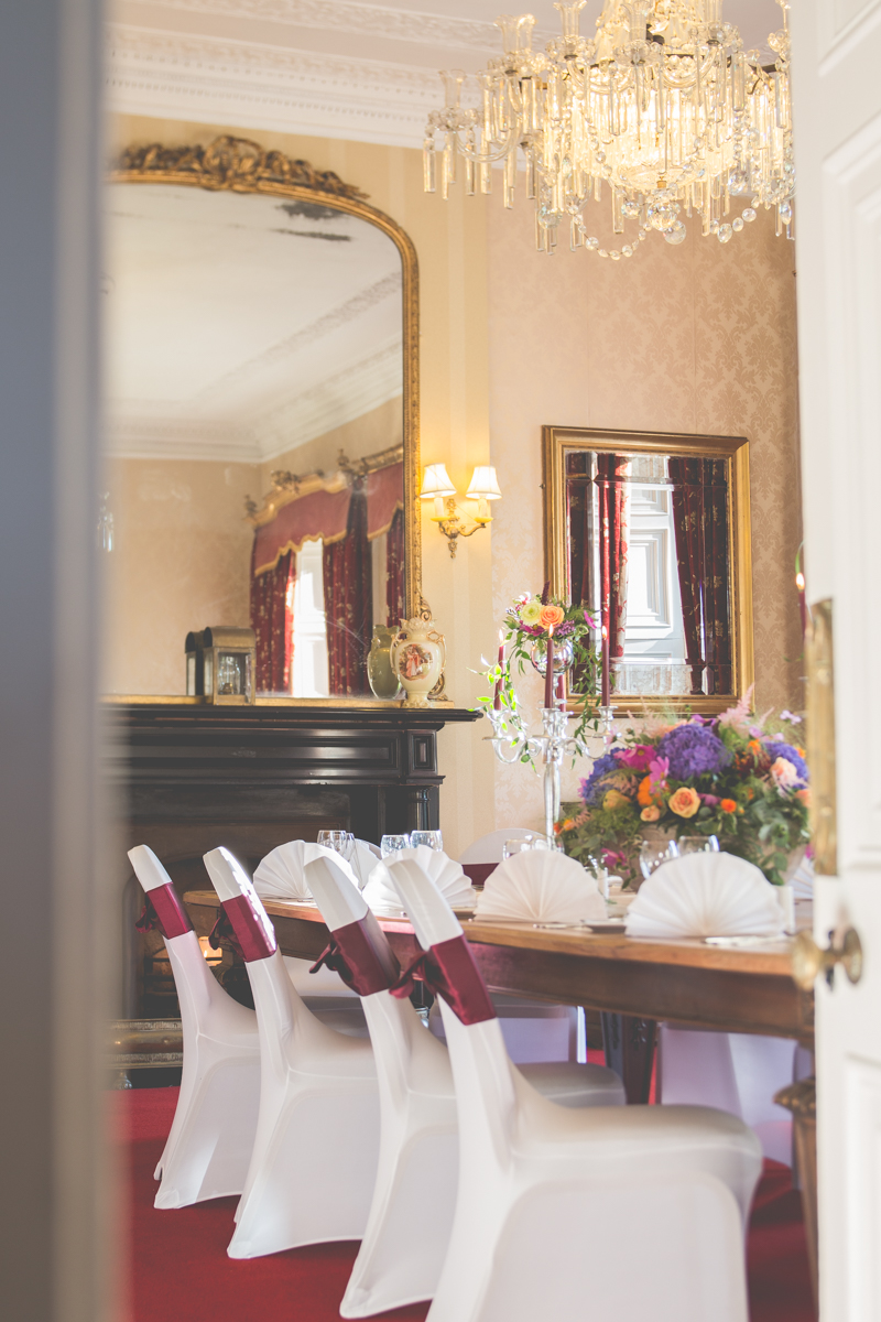 Dining Table setting Boyne Hill House Estate