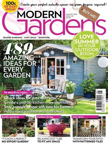 modern gardens magazine august 2018