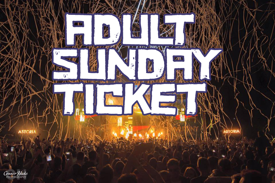 £35.00 + BF Early bird  Adult SUNDAY Ticket  18+ ONLY ID REQUIRED BY ALL  -