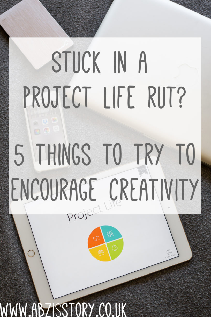 Project Life rut, five things to try when you're stuck creatively