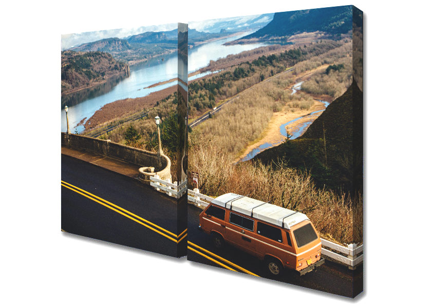Two Panel Canvas - Two panel canvas prints can be set up side-by-side, or in a stacked arrangement depending on the orientation of your photo.Find the style that is right for you from the options below and select it by clicking the link. You will be taken to the product page to customize your canvas!