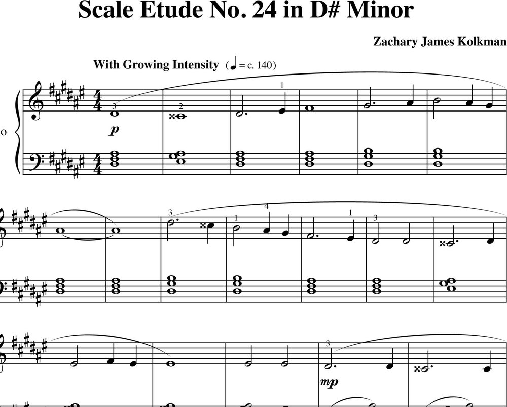 Sheet Music Download:  Scale Etude No. 24 in D-sharp minor