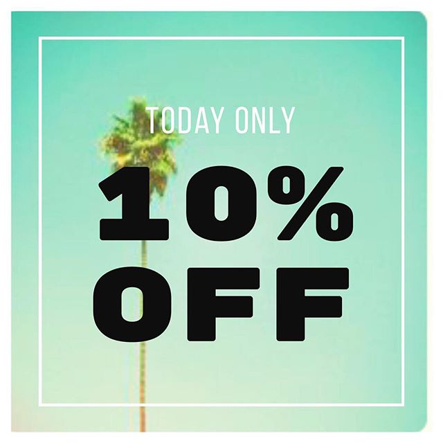 As promised we are continuing our CELEBRATION of SUMMER with special discounts and giveaways. We are offering a 10% discount on any orders placed today and tomorrow until midnight. TODAY & TOMORROW only! Enter 'SUMMER' at checkout ☀️