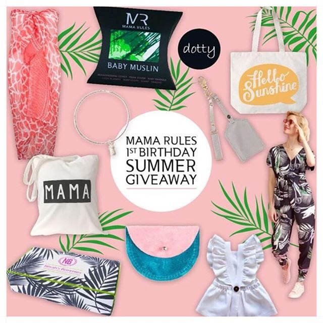 S U M M E R 🍍G I V E A W A Y🌴  We have teamed up with some amazing brands to celebrate Mama Rules 1st Birthday with this epic bundle of prizes to start your Summer in style 😎 TO ENTER: ☀️1. Like this post ☀️2. Follow the loop by clicking the tags on the picture - you must be following all participating brands☀️3. Tag as many friends as you like below and comment with your favourite thing about Summer for additional entries! ☀️ WIN this stunning Summer bundle of prizes: @mamarulesltd 2x Large muslins - prints of your choice @littleyellowlondon New Annie Club Tropicana Jumpsuit  @sassandedge Silver pineapple bangle @we_are_konoc Leather coin purse @norahsbrownies Box of delicious brownies @cloecassandro Sarong @_alittlebitdotty £20 online credit @sisiandseb Hello Summer tote by Alphabet bags @kerikitbags personalised Leather luggage tag keyring  @daisies_and_dinosaurs_decor Mama tote @freya_lillie_ White linen frills dress This Giveaway starts on Monday 7th May at 8pm GMT and closes ‪Wednesday 9th May 8pm GMT‬. We will announce the winner within 48 hours and contact them directly. This giveaway is in no way endorsed, affiliated with, administered or sponsored by Instagram. By entering, you are also confirming you are 18+ years of age, release Instagram from any and all responsibility and you agree to Instagram's terms of use.