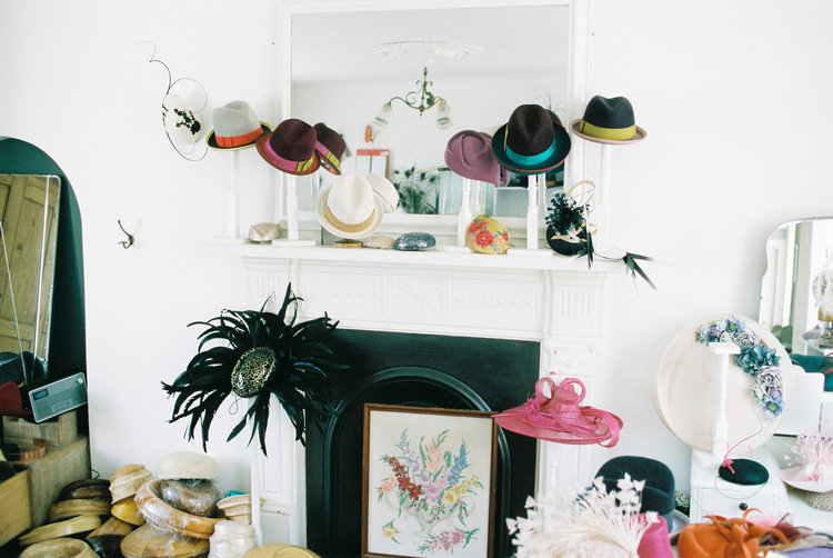Showcasing Marie-Claire Millinery's work in studio