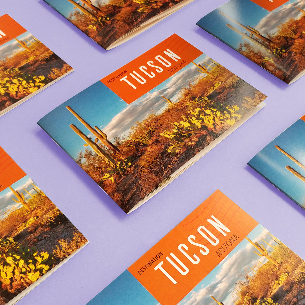 Production et conception graphique de la nouvelle destination voyage : Tuscon, Arizona