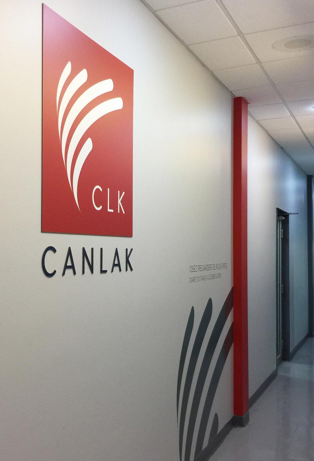 CANLAK / Signalétique  Panneau, enseigne, impression