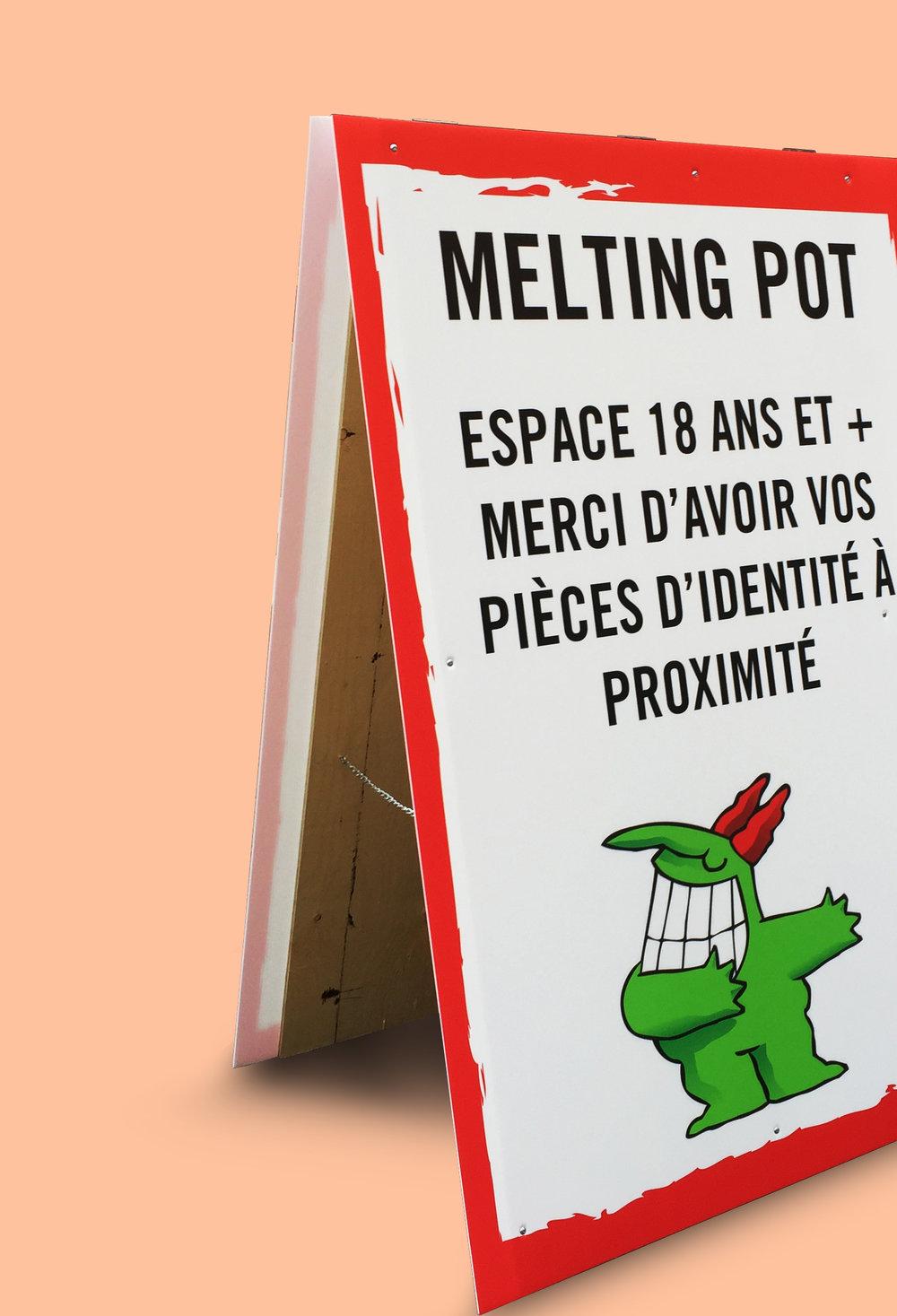 JUSTE POUR RIRE / Affichage Panneau grand format, impression