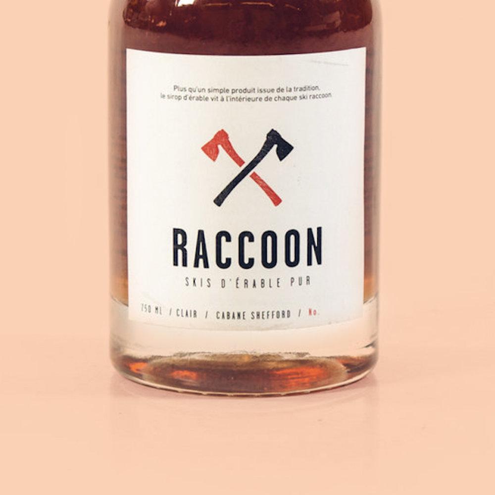 Étiquette bouteille Raccoon