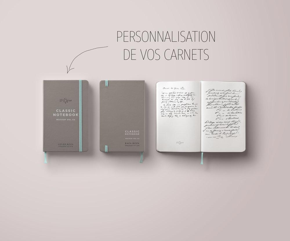 Carnet personnalisé