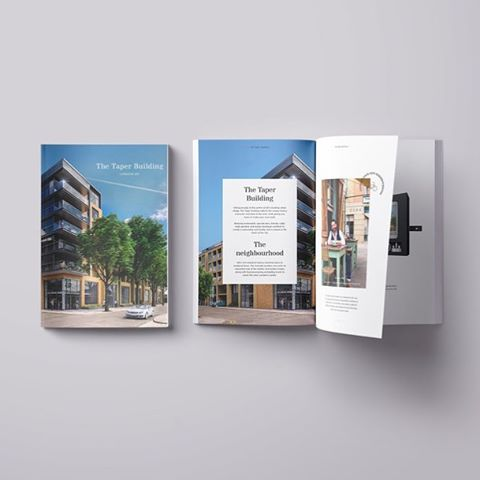 Shape Real Estate - The Taper Building. Launch brochure. #graphicdesign #design #editorial #development #construction #typography #layout #designer #shaperealestate #shape