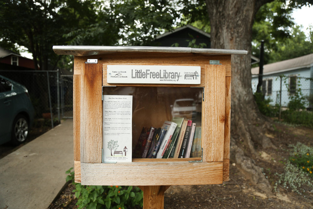 An example of a Little Free Library