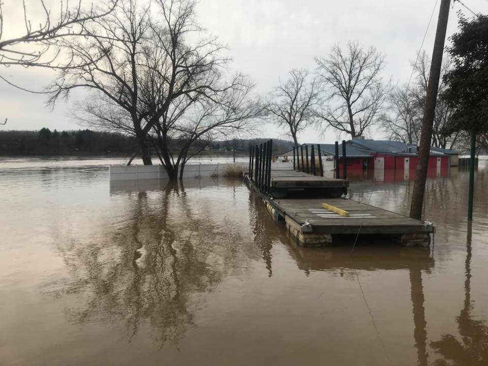 Flooding at Boathouse BBQ