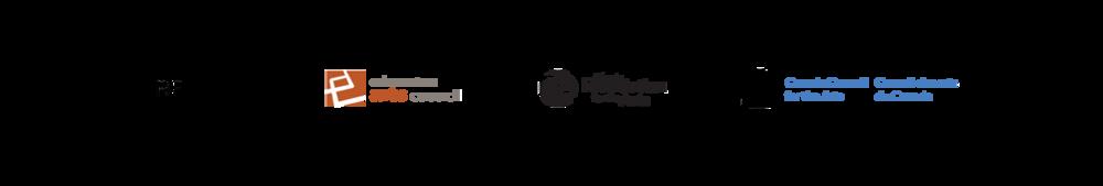 Sponser eac, afa, canada council, logo