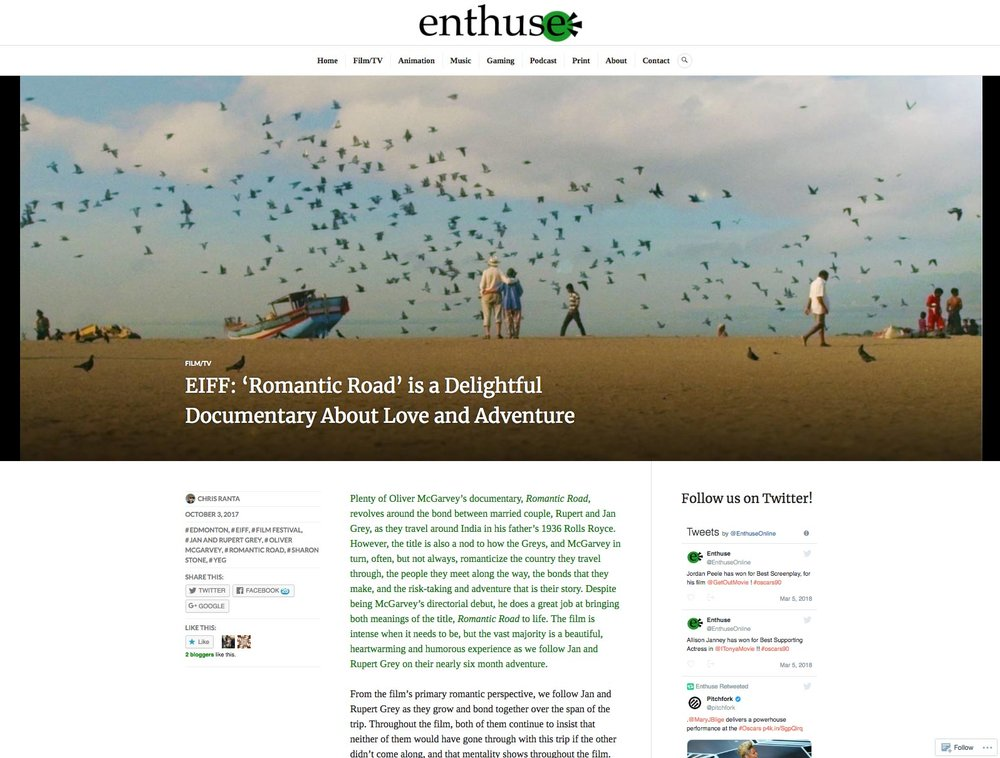 ENTHUSE - FILM REVIEW