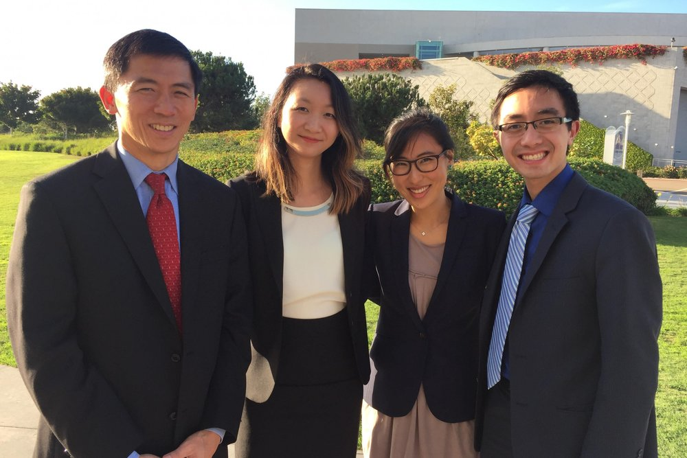 Portrait Project Team from left to right: Justice Goodwin H. Liu, Xiaonan April Hu, Christine Kwon and Eric Chung