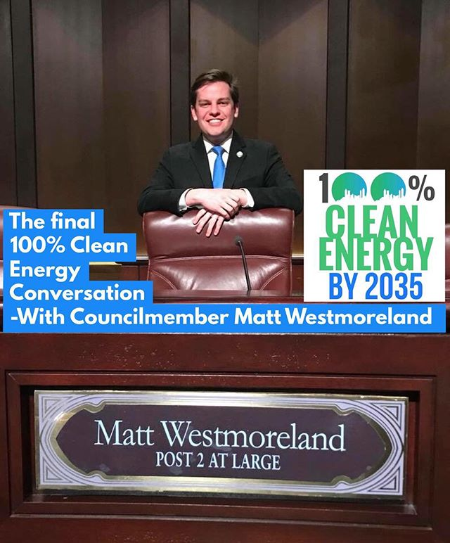 Join one of ATL's newest City Council Members,  @MattWestmoreland and our partners for the final #CommunityConversation on Atlanta's 100% #Clean #Energy Plan. Don't miss the chance for your voice to be represented in the #100ATL Plan!  Sign up in our bio or here: https://www.facebook.com/events/426011567815777/?ti=icl (Food AND Childcare provided)