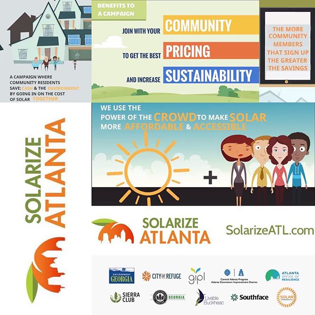 Announcing Solarize Atlanta! ☀️ The community-based solar PV bulk-purchasing campaign that makes solar more affordable + accessible for the citizens of Atlanta who participate. We NEED input from our community members so that we can choose the installer that best fits Atlanta Citizen need's, take a short survey in  @solarizeatlanta's bio or at SolarizeATL.com.